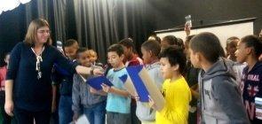 Alunos apresentam projeto contra o bullying